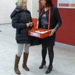 Unsere Rentenkampagne des DGB bei der Knappschaft in Cottbus