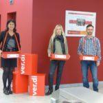 Die Rentenkampagne des DGB bei der Knappschaft in Cottbus (2)