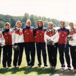 Internationale Regatta in Duisburg (5.v.l.) dabei:Olympiasiegerinnen Fanny Fischer, Katrrin Wagner-Augustin, Manuela Mucke