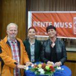 Zu Gast beim DGB in Berlin- hier mit Ministerin Diana Golze (DIE LINKE)